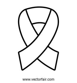 awareness ribbon icon, line style