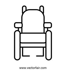 inclusion concept, wheelchair icon, line style