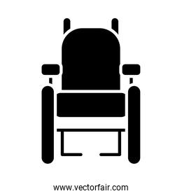 inclusion concept, wheelchair icon, silhouette style