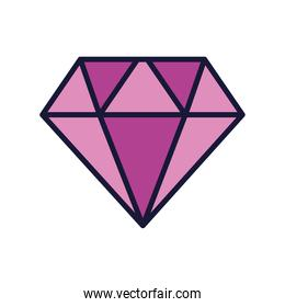 diamond gem icon, line and fill style