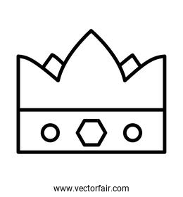 queen crown icon, line style