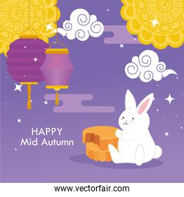 chinese mid autumn festival with decoration