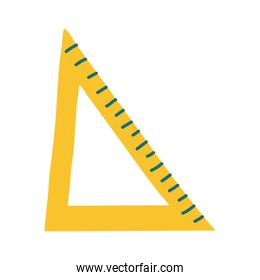 rule triangle school supply flat style icon