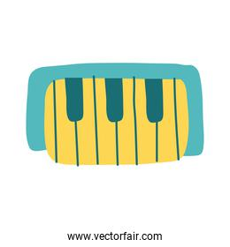 piano instrument flat style icon