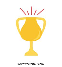 trophy cup award flat style icon
