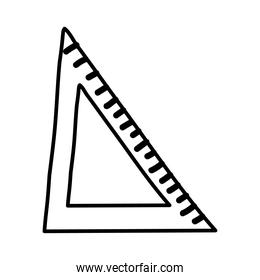 rule triangle school supply line style icon
