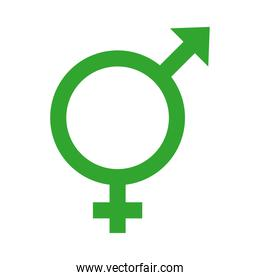 hermaphrodite gender symbol of sexual orientation multy style icon