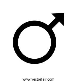 male gender symbol of sexual orientation line style icon
