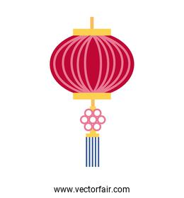 mid autumn pink lamp hanging decoration flat style icon