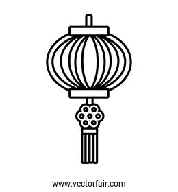 mid autumn pink lamp hanging decoration line style icon