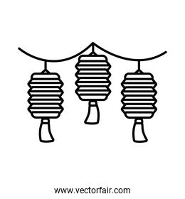 mid autumn lamps hanging decoration line style