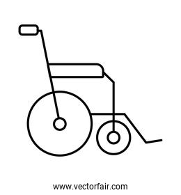 wheelchair medical line style icon