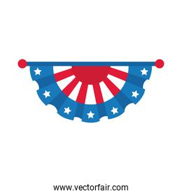 usa election emblem with stars hanging flat style icon