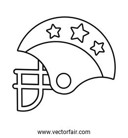 american football helmet with stars line style icon