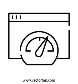 speed gauget with web template line style icon