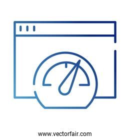 speed gauget with web template gradient style icon