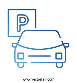car and parking signal gradient style icon