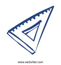 triangle rule school supply free form style icon