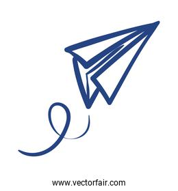 airplane paper flying free form style icon