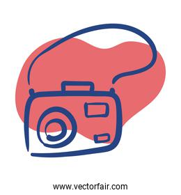 camera photographic line style icon