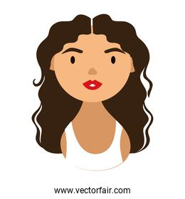 woman character with long hair national hispanic heritage flat style icon