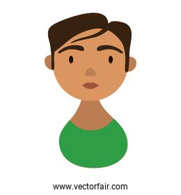 woman character with short hair national hispanic heritage flat style icon