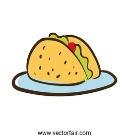 tacos mexican food flat style icon