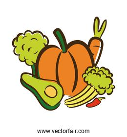 fresh vegetables flat style icon