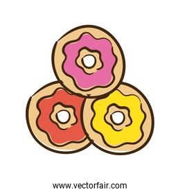 sweet donuts flat style icon