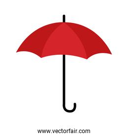 umbrella protection accessory isolated icon