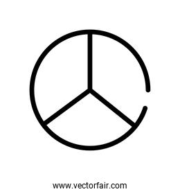 peace and love symbol line style icon