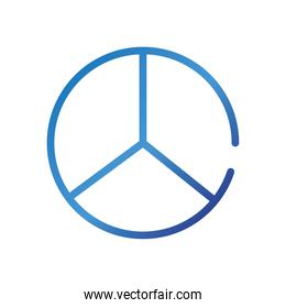 peace and love symbol gradient style icon