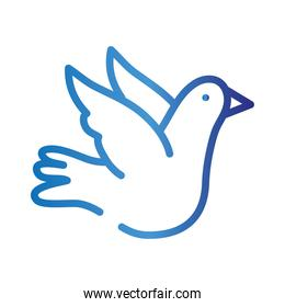 peace dove flying gradient style icon