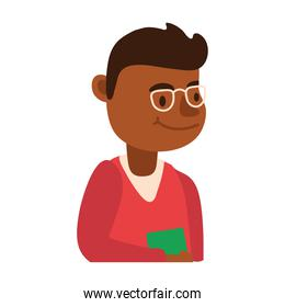 afro male teacher worker character