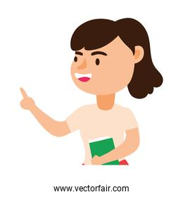 teacher female worker character icon