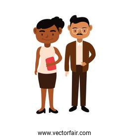 interracial teachers couple workers characters