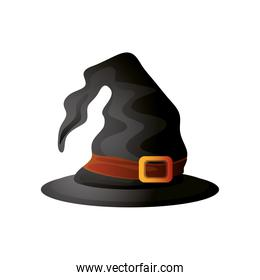 witch hat for halloween on white background