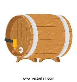 beer wooden barrel isolated icon