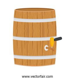 beer wooden barrel front isolated style icon