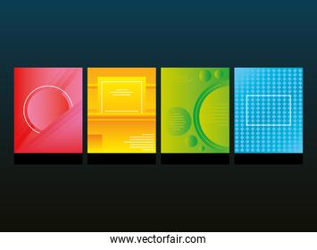set of colorful abstract backgrounds