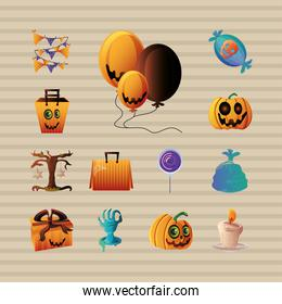 collection of icons for halloween
