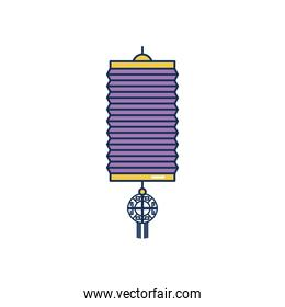 icon of chinese lamp, line fill style