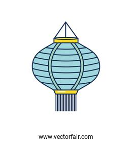 mid autumn concept, chinese lamp icon, line fill style