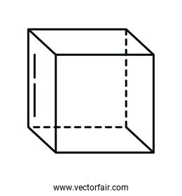 cube geometry perspective isometric line icon style