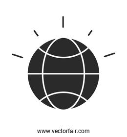 world planet map global silhouette icon isolated design