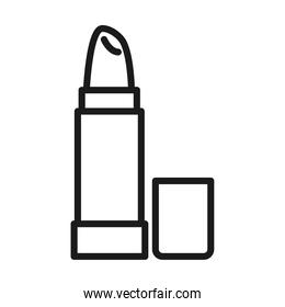 lipstick makeup cosmetic female pictogram line style