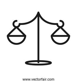 balance scale equality pictogram line style