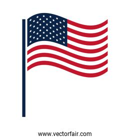 United States elections, waving flag national, political election campaign flat icon design