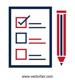 United States elections, list of candidates to select, political election campaign flat icon design