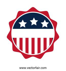 United States elections, american flag emblem national, political election campaign flat icon design